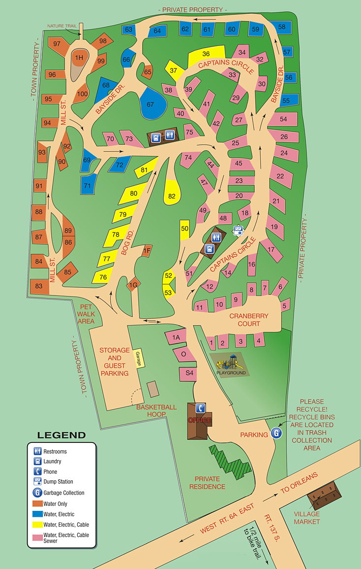 Shady Knoll Site map